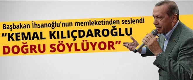 Erdoğan İhsanoğlu'nun memleketinden seslendi