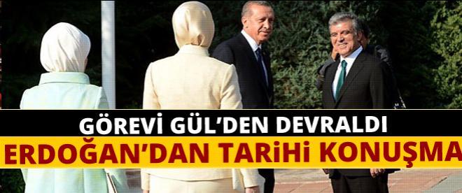 Cumhurbaşkanı Erdoğan'dan Köşk'te tarihi konuşma