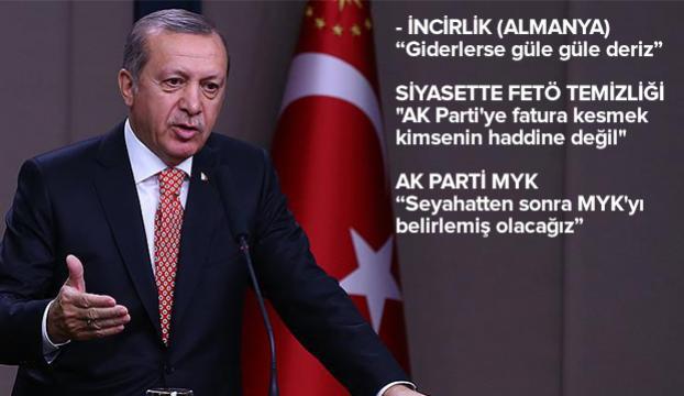 Cumhurbaşkanı Erdoğandan Brüksel seyahati öncesi açıklamalar