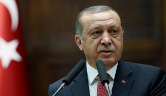 Erdoğan'ın konuşmasını provoke girişimi sonuçsuz kaldı