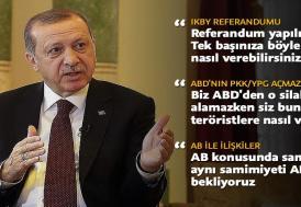 Cumhurbaşkanı Erdoğan, Amerikan PBS kanalına konuştu
