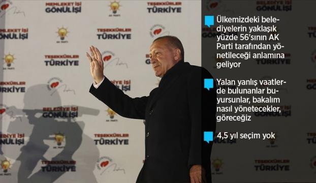 Cumhurbaşkanı Erdoğan: Milletimiz bizi 15inci defa sandıkta birinci yaptı