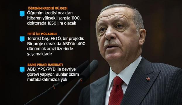 Erdoğandan öğrenim kredisi müjdesi