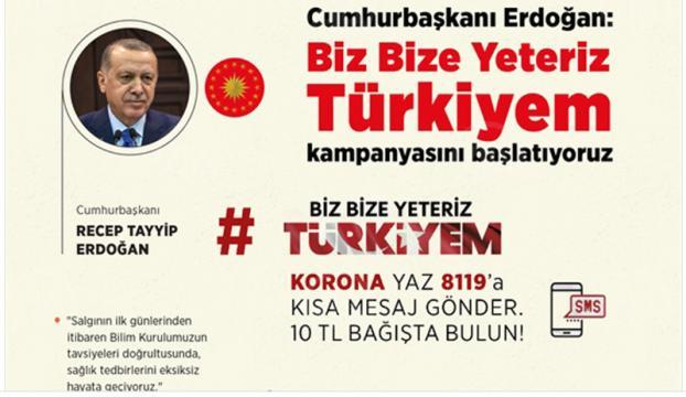 """Cumhurbaşkanı Erdoğandan """"Milli Dayanışma Kampanyası"""" paylaşımı"""