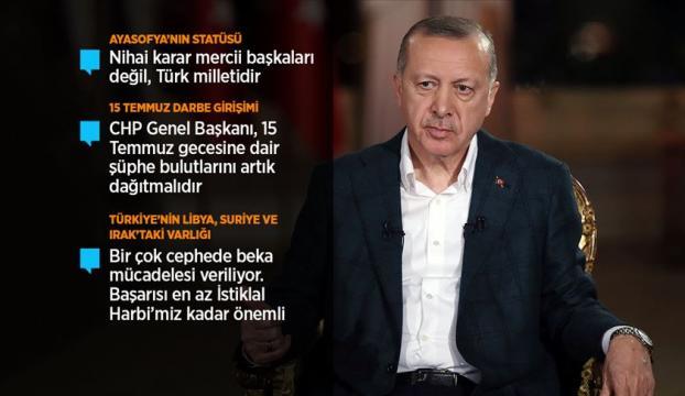 Cumhurbaşkanı Erdoğan: Kriz döneminde sistem bir saat gibi tıkır tıkır işledi