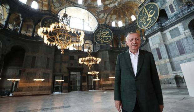 Cumhurbaşkanı Erdoğan ikinci kez Ayasofya Camisinde