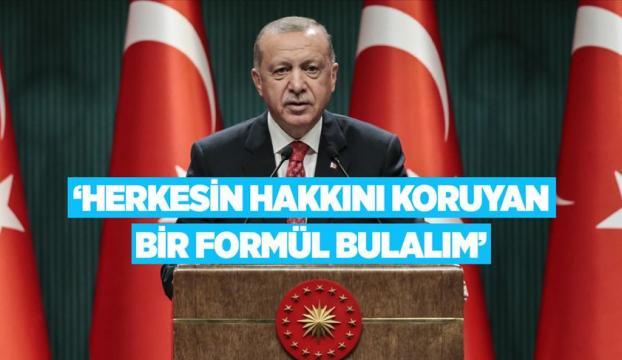 Cumhurbaşkanı Erdoğan, Kabine Toplantısının ardından millete seslendi