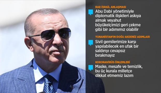 Cumhurbaşkanı Erdoğan, cuma namazının ardından gazetecilerin sorularını yanıtladı