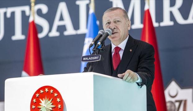 Cumhurbaşkanı Erdoğan: Biz nasıl kimsenin toprağına göz dikmiyorsak, bize ait olanlardan da taviz vermeyeceğiz