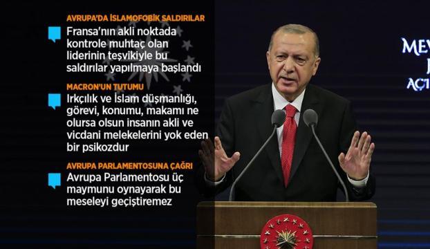 Cumhurbaşkanı Erdoğan: Fransız mallarını asla satın almayın