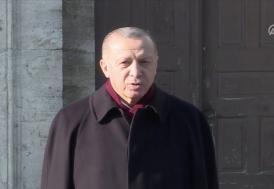 Cumhurbaşkanı Erdoğan cuma namazını Ayasofya-i Kebir Camii'nde kıldı