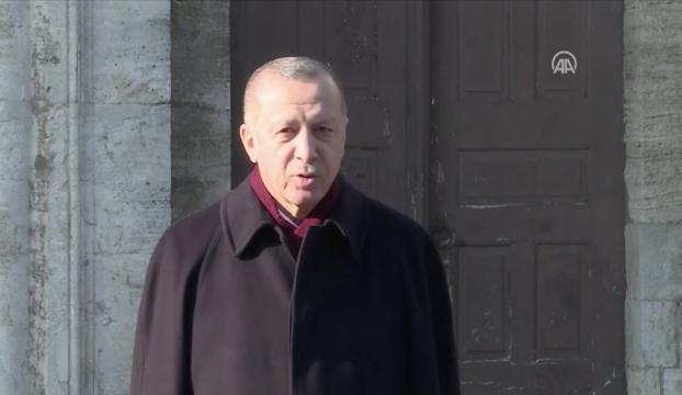 Cumhurbaşkanı Erdoğan cuma namazını Ayasofya-i Kebir Camiinde kıldı
