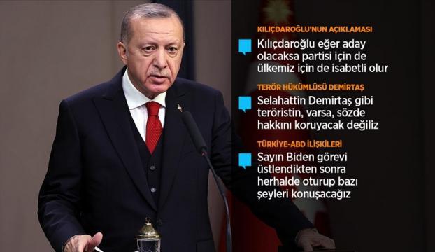 Cumhurbaşkanı Erdoğan: Hamdolsun bugün yıldız ve hilal Karabağ semalarında gururla dalgalanıyor