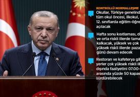 """Cumhurbaşkanı Erdoğan, Kovid-19'la mücadelede """"Kontrollü Normalleşme"""" döneminin ayrıntılarını açıkladı:"""