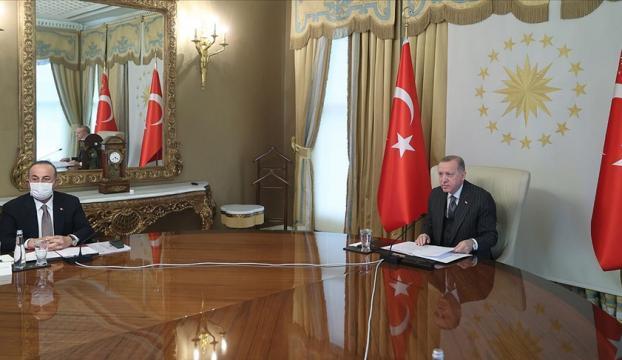 Erdoğan, AB Komisyonu Başkanı Leyen ve AB Konseyi Başkanı Michel ile görüştü
