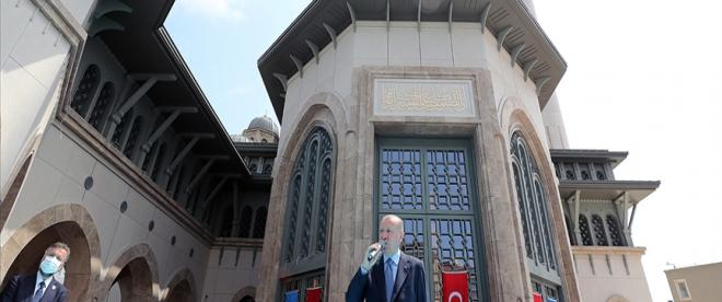 Cumhurbaşkanı Erdoğan: Taksim Camimiz, İstanbulun sembolleri arasındaki seçkin yerini şimdiden almıştır