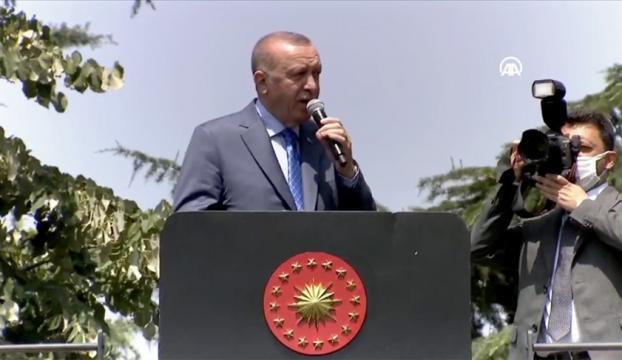 Cumhurbaşkanı Erdoğan, Arifiyede tank palet fabrikasını ziyaret etti