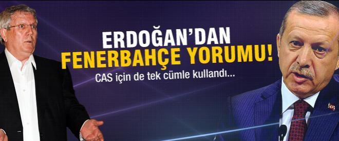 Erdoğan'dan PYD ve Fenerbahçe açıklaması
