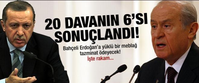 Bahçeli'den Erdoğan'a rekor tazminat!
