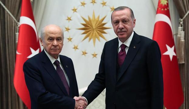 Erdoğan-Bahçeli bir araya geldi