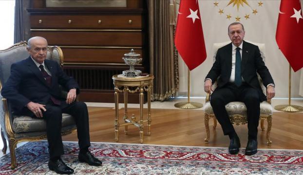 Cumhurbaşanı Erdoğan, Bahçeli ile görüştü