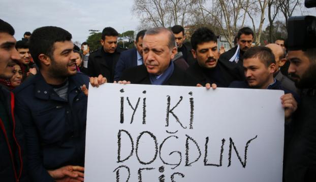 Cumhurbaşkanı Erdoğana doğum günü kutlaması
