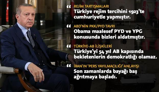 Cumhurbaşkanı Erdoğan El-Cezireye konuştu
