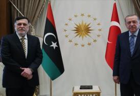Cumhurbaşkanı Erdoğan, Libya Başbakanı Serrac ile bir araya geldi