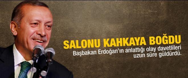 Erdoğan salonu kahkahaya boğdu