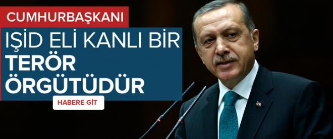 Erdoğan: IŞİD eli kanlı terör örgütüdür