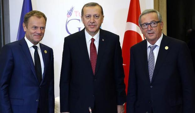 Erdoğan, Juncker ve Tuskla görüşecek