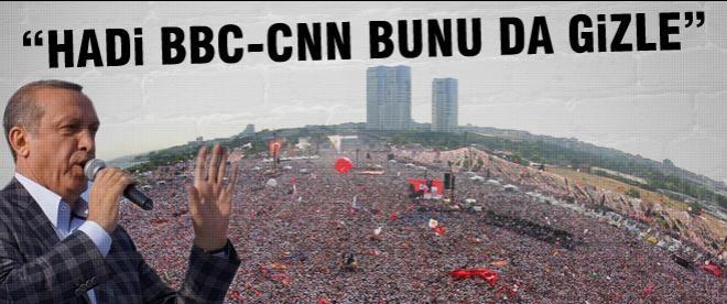 """Erdoğan'dan medyaya: """"Hadi bunu da gizle"""""""