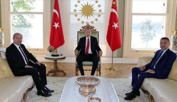Cumhurbaşkanı Erdoğanın KKTC Başbakanı Tatarı kabulü sona erdi