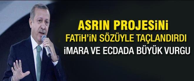 Erdoğan: Marmaray insanlığın projesidir