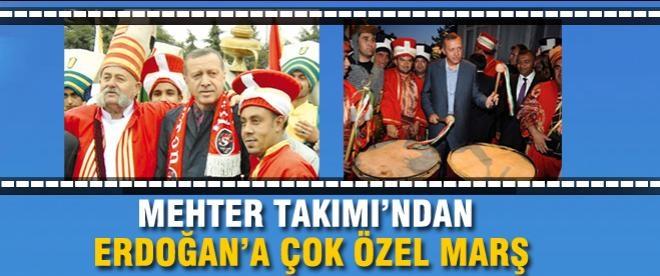Mehter Takımı'ndan Başbakan Erdoğan'a beste