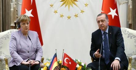 testCumhurbaşkanı Erdoğan, Almanya Başbakanı Merkel'i kabul etti