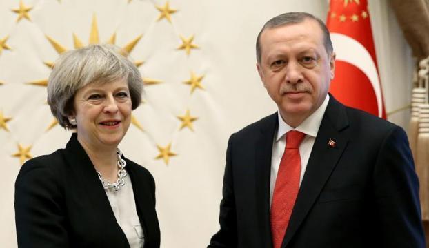 Erdoğan, İngiltere Başbakanı Mayle görüştü