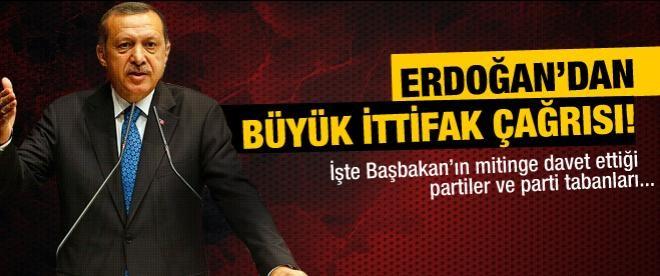 Erdoğan diğer parti tabanlarını da mitinge davet etti!