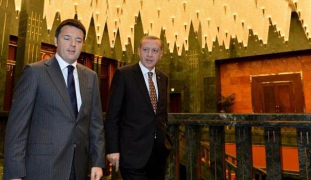 Erdoğan Renziyi kabul etti