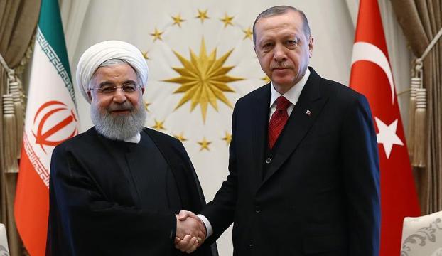 Erdoğan, Ruhani ile İran kararını görüştü