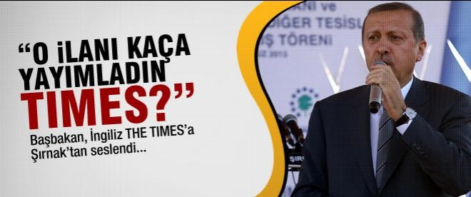 """Erdoğan: """"Kaça yayımladın Times?"""""""