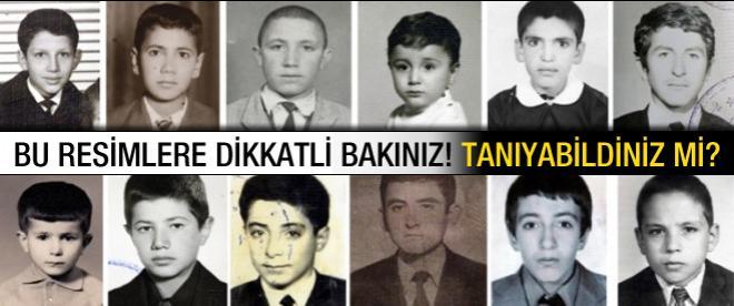 Erdoğan ve bakanların çocukluk fotoğrafları