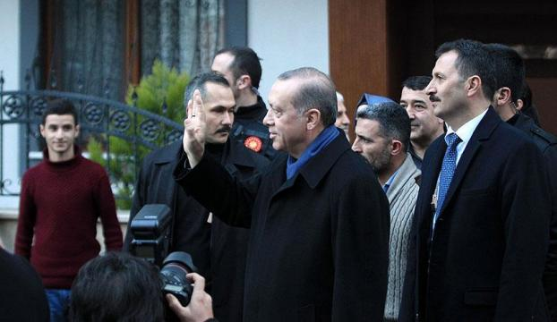 Erdoğandan 15 Temmuz gazisinin ailesine ziyaret