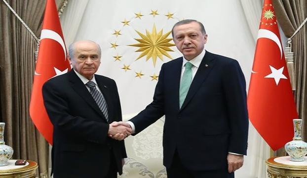 Erdoğan, MHP Genel Başkanı Bahçeliyi kabul etti