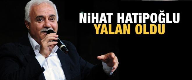 Erdoğan'dan Nihat Hatipoğlu açıklaması