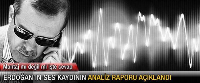 Erdoğan'ın ses kaydının analiz raporu