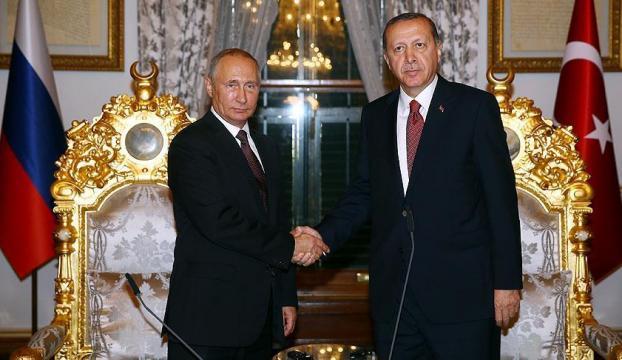 Cumhurbaşkanı Erdoğan, Putin ile Halepi görüştü