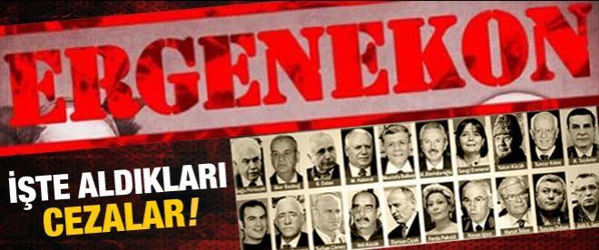İşte Ergenekon'da açıklanan cezalar!
