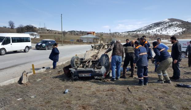 Erzincanda trafik kazası: 1 ölü