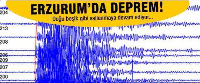 Erzurum'da 4.4 büyüklüğünde deprem